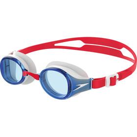 speedo Hydropure Occhiali Maschera Bambino, rosso/blu